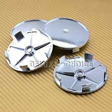 UNIVERSAL CHROME CAR ALLOY WHEEL RIM CENTER HUB CAP 68MM USE UR OWN STICKER LOGO