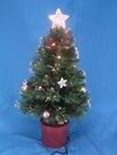 24 Inch Green Fibre Optic Stars & Bauble Christmas Tree- (FO24SB) NEW