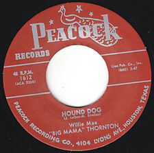 "BIG MAMA THORNTON Hound Dog PEACOCK Repro 7"" 1952 R&B Classic Orig. Version HEAR"