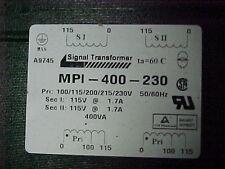 Mpi-400-230 Signal Transformer Pri: 100-230v Sec: 115v x2