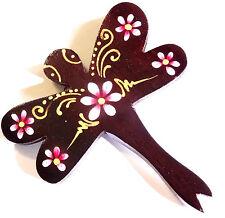 Magnet Aimant Libellule Bois Frigo Artisanal Animal wooden Dragonfly