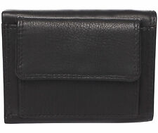 LEDER Minibörse  BATZEN - schwarz - 9,5x7cm 3 (!) Karten  Geldbörse Portemonnaie