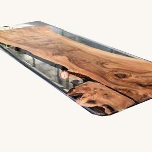 Epoxy table, dining, sofa, center table top Acacia Wooden Collectible table Deco