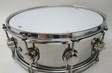 """USED DW Collector's Series Metal Snare Drum 14"""" x 5.5"""" Musical Percussion F/S"""