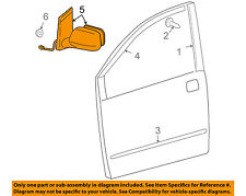 TOYOTA OEM 04-10 Sienna Door Side Rear View-Mirror Assy Left 87940AE020