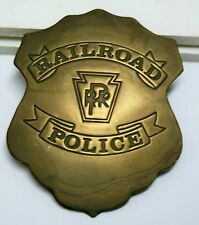 Collectible Brass Badge <> Railroad Police <> Pennsylvania RR <> Shield Style