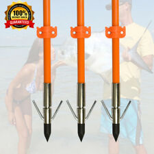"""3pcs Archery Bow Fishing Hunting Arrows with Broadheads and Safety Slides 32"""""""