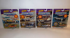 CARS : SET OF 4 DIE CAST CARDED DRAGSTER MODELS MADE BY JOHNNY LIGHTNING IN 1995