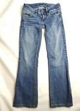 American Eagle womens jeans size 00 junior artist capri medium wash
