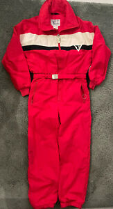 VTG Tyrolia Skiwear By Head Ski Suit Mens Large Red White Colorblock 80s 90s