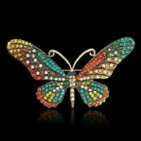 Insect butterfly shape metal women's fashion jewelry pin brooch gift