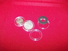 10 AIRTITE HOLDERS   MORGAN  PEACE DOLLARS RING TYPE PVC FREE  FITS 38MM COINS