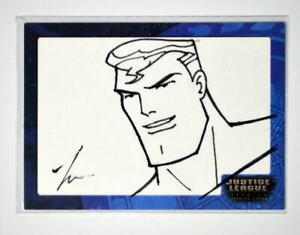 Justice League SK2 SUPERMAN SKETCH CARD #79/493 SIGNED Jin-Seok Park Inkworks