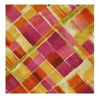 Blender Fabric - Dahlia Printed Plaid Pink Yellow - Timeless Treasures YARD