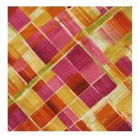 Blender Fabric - Dahlia Printed Plaid Pink Yellow - Timeless Treasures YARD