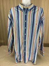Mens Ralph Lauren Blake Sz 4X Big Button Up L/S Shirt Oxford Wine Colored Pony