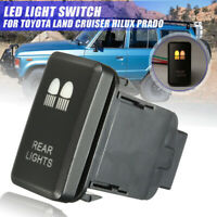 Dual LED Light Bar Rear Light Switch On/Off For Toyota Landcruiser Prado Hilux