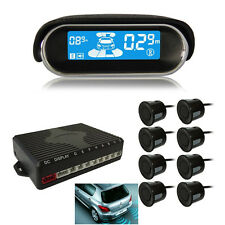 8 Parking Black Sensors Autos Dual Core Reverse Backup Radar System LCD Display