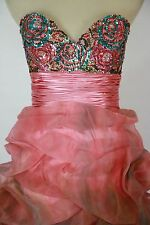 NWT Jovani Size 2 Ball Gown Long Cruise Prom Formal $500 Pink Dress High Low NEW