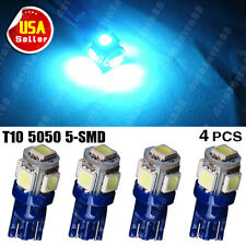 4X Ice blue T10 W5W  Wedge 5050 5-SMD Car LED Light Lamps 194 168 2825 158 US