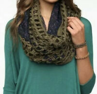 Anthropologie Pins and Needles Infinity Knitted Floral Scarf Winter Fall