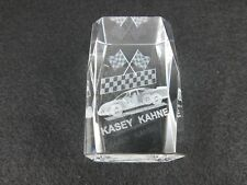 Kasey Kahne #9 Dodge Charger Etched Clear Crystal NASCAR Paper Weight