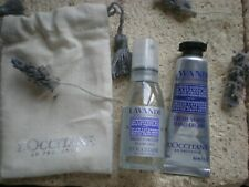 NEW L'Occitane Lavender Hand cream 10ml and  pillow mist 15ml in gift bag