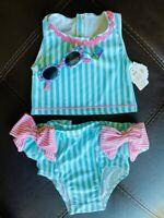 Mud Pie E0 Baby Girl Beach Tassel Flamingo Two-Piece Swimsuit 11020027 Choose