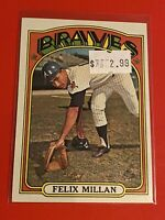 1972 Topps Baseball Cards SEMI-HIGH NUMBER #536 EX Felix Millman ATLANTA BRAVES