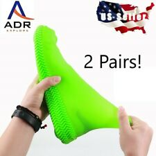 2pair- Waterproof silicone shoe covers for Women, & Kids no skid soles reusable.