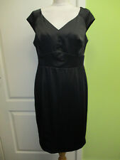 BNWT SIZE 14 LADIES BLACK SATIN PENCIL DRESS COCKTAIL/PARTY BY GEORGE