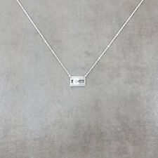 Colorado State Flag Silver Plated Necklace in Gift Box United States Stripes CO