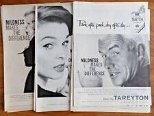 1957 1958 Tareyton Cigarette Ad  Lot of 14 Different Ads