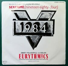 "EURYTHMICS Sex Crime (1984) / Just The Same JAPANESE 7"" 45 Vinyl 07VA-1007"