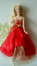 *Barbie Collectors Doll 2014 Holiday Glamour Red Dress Christmas*