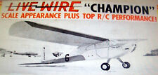 Vintage Live Wire CHAMPION 1955 RC PLANS + All Model Airplane Parts Patterns