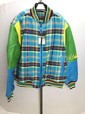 Crown by Schott NYC Multi-Color Wool Blend Leather Jacket sz XXXL 3XL NWT!