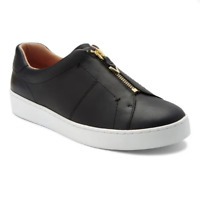 Vionic 11 Shoes Splendid Ellis Sneaker Zip Up Black Leather Comfort NEW size 11