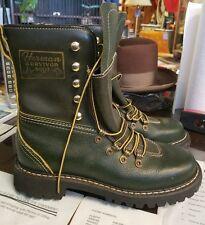 Vintage Mens Herman Survivor Insulated Hunting Work Boots Dark Green Size 6M M