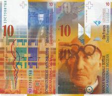 Billet banque SUISSE SWITZERLAND SWISS SCHWEIZ 10 Frs 2010 NEUF NEW UNC
