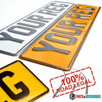Pressed Car Registration Plates METAL NUMBER PLATE EMBOSSED REG GB UK Road Legal