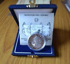 MONETA CELEBRATIVA REPUBBLICA ITALIANA 500 LIRE 1991 AMERICA ARGENTO 835 PROOF