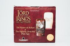Lord of the Rings : The Two Towers Pint Set Authentic NEW
