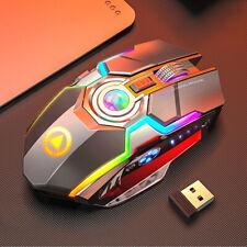 Wireless Gaming Mouse LED RGB Laser Backlit Ergaonomic Optical Mice AU