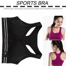 Sports Women Seamless Racerback Bra Yoga Fitness Padded Stretch Workout Tank Nd