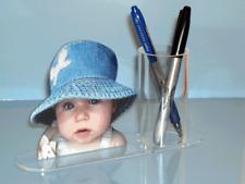 Pot à crayons photo sculpture recto verso personnalisé avec votre photo