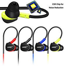 Fonge 3.5mm Sweatproof Headset Sport HIFI Earphone Hook Headphone With Mic