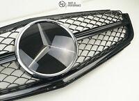 Kühlergrill für Mercedes-Benz C63 W204 C204 S204 Schwarz Facelift MOPF AMG