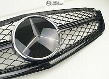 Original AMG Mercedes-Benz Kühlergrill C63 W204 C204 S204 Schwarz Facelift MOPF