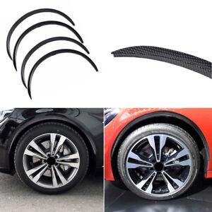 4x Car Wheel Eyebrow Arch Trim Lips Carbon Fiber Fender Flares Protector